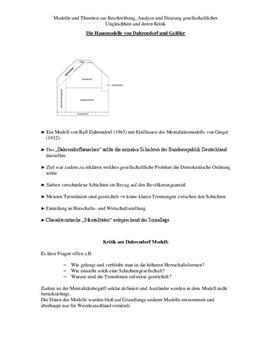 Referat über die Hausmodelle von Dahrendorf und Geißler