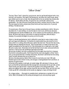Oliver Twist Zusammenfassung Schulhilfede