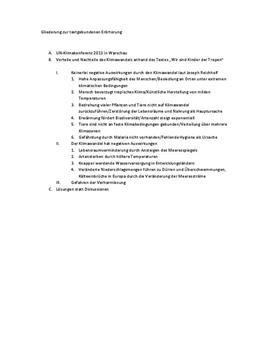 textgebundene errterung klimawandel schulhilfe de - Mustererorterung