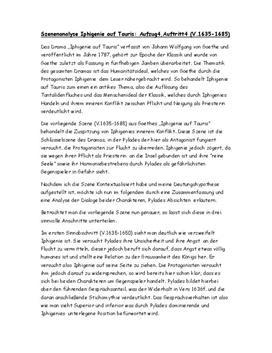Analyse - Iphigenie auf Tauris Szene 4.4