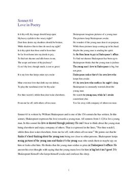 sonnet 130 poem summary Sonnet 130 refers to her, even though we do not know her name this is an unconventional love poem it was very customary, following the conventions set up by the italian lyric poet petrarch (1304-74), to write sonnets praising the beauty of the woman you were in love with.