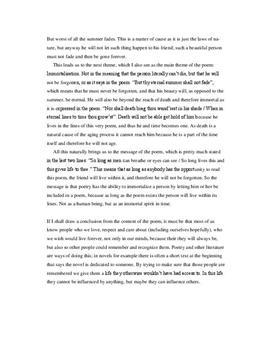 shakespeare sonnet 18 analysis essay