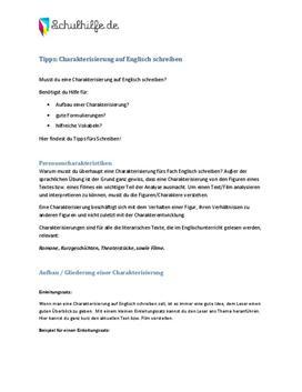 Guide für Charakterisierung in Englisch herunterladen