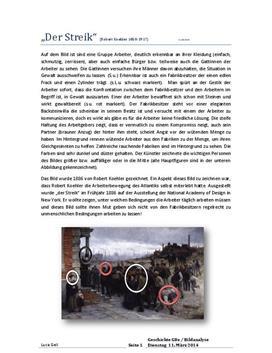 """Quellenanalyse - Bildanalyse von """"Der Streik"""""""