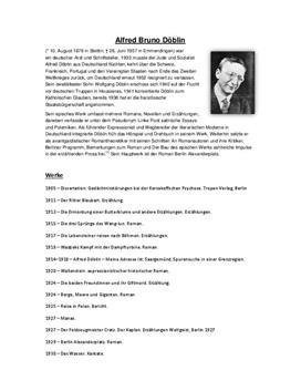 Biografie - Alfred Bruno Döblin