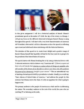 Obama speech Redeanalyse