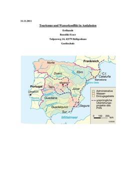 Facharbeit über den Tourismus und Wasserkonflikt in Andalusien