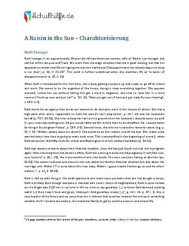 A Raisin in the Sun Charakterisierung Ruth Younger