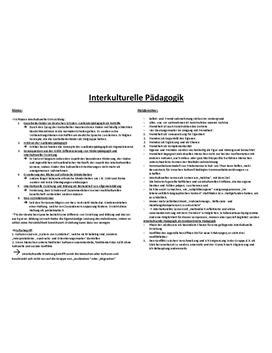 Referat über interkulturelle Pädagogik