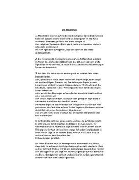 """Klausurvorbereitung - Bildanalyse der """"Sixtinischen Madonna"""""""