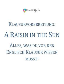 A Raisin In The Sun Klausur