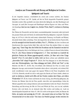 Iphigenie auf Tauris Analyse