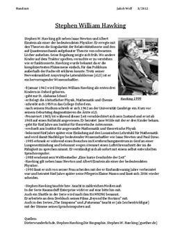 Referat über Stephen Hawking