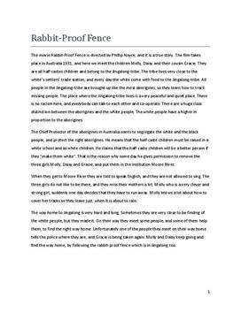 Rabbit Proof Fence Zusammenfassung Schulhilfede