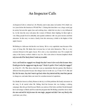 An inspector calls Analyse