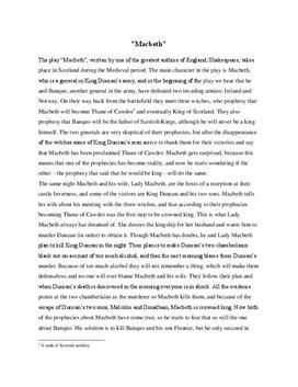 Macbeth Zusammenfassung