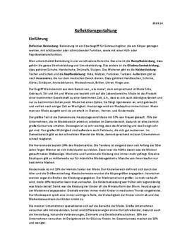 Referat über Kollektionsgestaltung