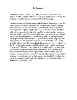 """Zusammenfassung von """"The Death of Vinush"""""""