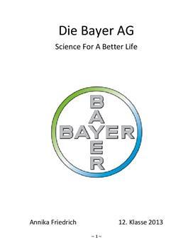 Facharbeit über die Bayer AG