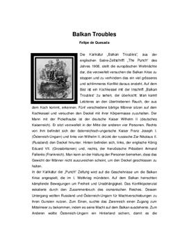"Quellenanalyse von ""Balkan Troubles"""