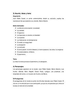 """Referat und Analyse von """"El Túnel"""""""