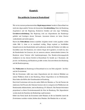 Referat: Vergleich von 4 politischen Systemen