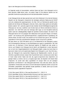 Referat - Sport im Nationalsozialismus