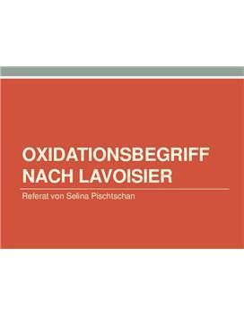 Referat über den Oxidationsbegriff