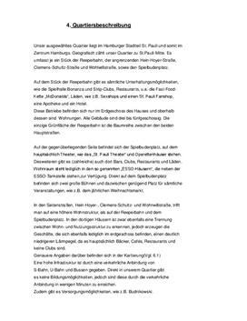 Referat: Beispiel einer Stadtteilanalyse/Quartiersbeschreibung