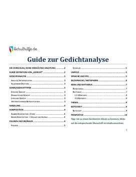 Gedichtanalyse und Interpretation