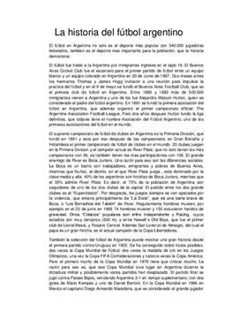 Klausurvorbereitung: Aufsatz über argentinischen Fußball