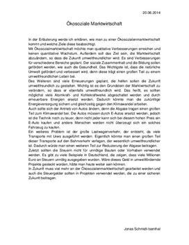 Referat: Ökosoziale Marktwirtschaft