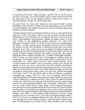 """Analyse: """"Kabale und Liebe"""" - Akt 3, Szene 4"""