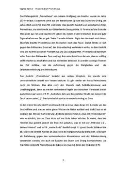 """Analyse und Interpretation von """"Prometheus"""""""