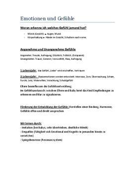 Referat: Gefühle und Kindesentwicklung