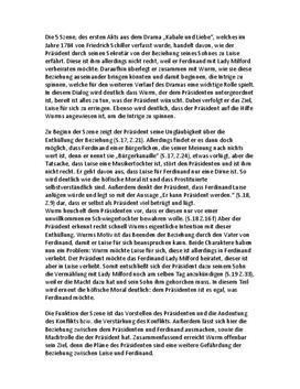 """Zusammenfassung und Analyse - """"Kabale und Liebe"""": Akt 1, Szene 5"""
