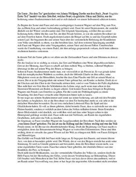 """Analyse und Zusammenfassung von """"Faust I"""" - """"Vor dem Tor"""""""