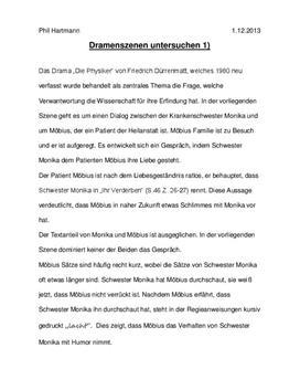 """Analyse einer Dramenszene am Bsp. """"Die Physiker"""""""