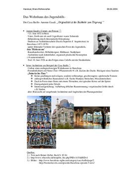 Referat: Die Architektur von Antoni Gaudí