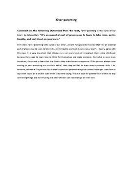 Essay schreiben englisch beispiele