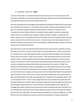 Gap of Sky Written by Anna Hope Sample Essay