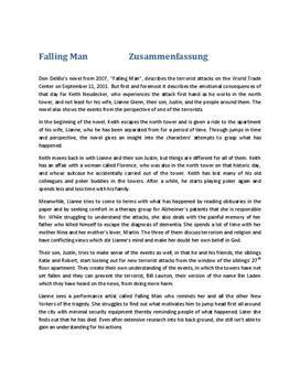Falling Man Zusammenfassung