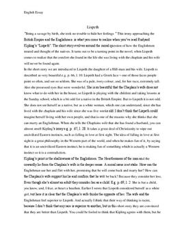 Lispeth - Analyse und Interpretation - Englisch
