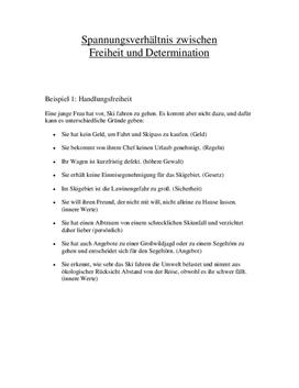 Referat - Freiheit und Determination