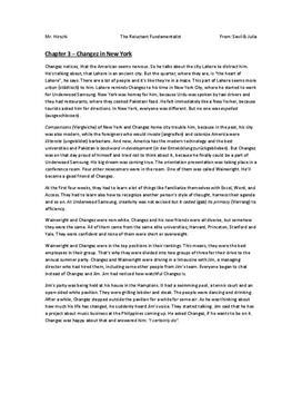 Zusammenfassung von The Reluctant Fundamentalist - Kapitel 3