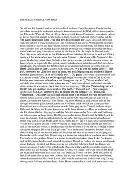 Selbergeschriebene Kurzgeschichte - Anregung fürs Schreiben
