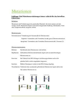 Referat zum Thema - Mutationen