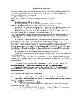 Inhaltsangabe - Der hessische Landbote