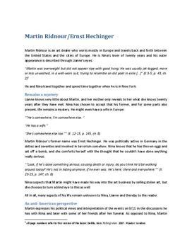 Falling Man Charakterisierung Martin Ridnour