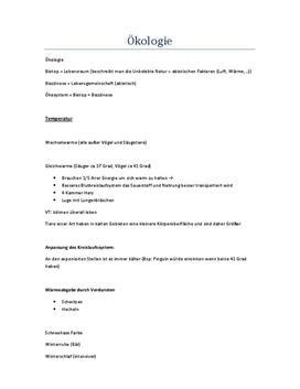 Ökologie - Referat